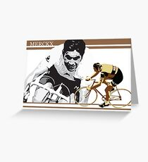 vintage poster EDDY MERCKX: the cannibal Greeting Card