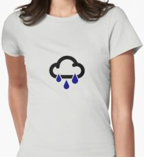 Heavy rain Womens Fitted T-Shirt