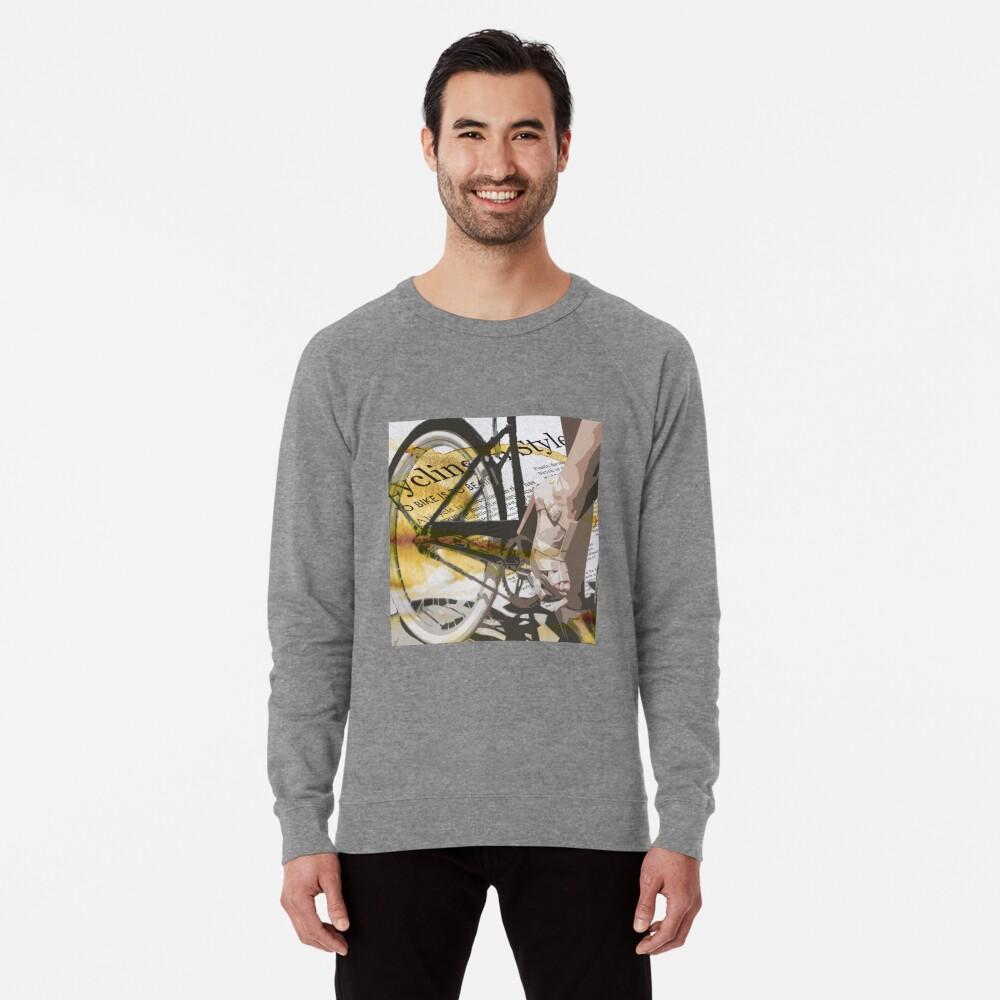retro BICYCLE URBAN CHIC print Lightweight Sweatshirt