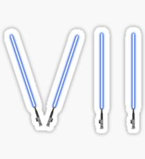 Star Wars The Force Awakens (Episode Seven) VII Blue Lightsaber Sticker