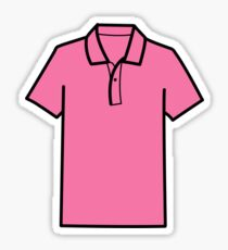 Pink A** Polo Sticker
