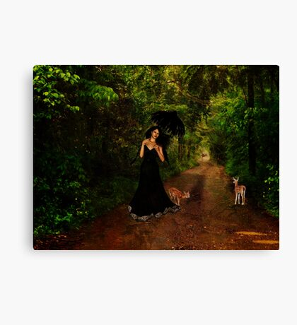 Walking With Nature Canvas Print