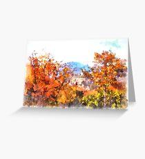 Saint Scolastica monastery: landscape Greeting Card