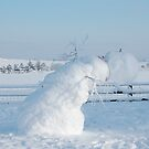 The leaning Snowman by Sandra Oddy