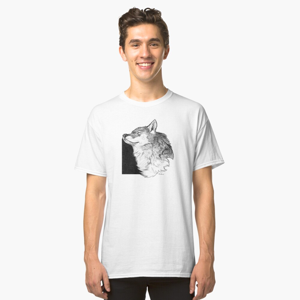 Sunny Wolf Classic T-Shirt Front