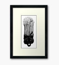 Wolf barcode Framed Print