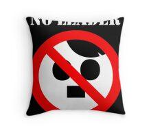 NO LEADER - black Throw Pillow