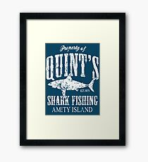 Quints Shark Fishing Amity Island Framed Print