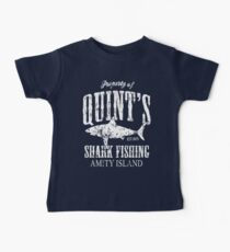 Quints Shark Angeln Amity Island Baby T-Shirt