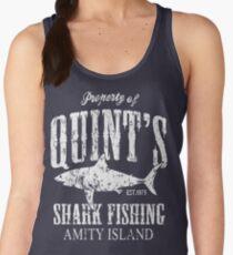 Quints Shark Fishing Amity Island Women's Tank Top