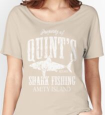 Quints Shark Fishing Amity Island Women's Relaxed Fit T-Shirt