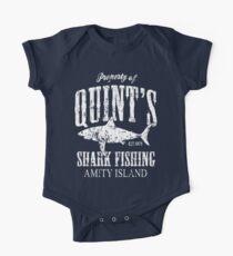 Body de manga corta para bebé Quints Shark Fishing Amity Island