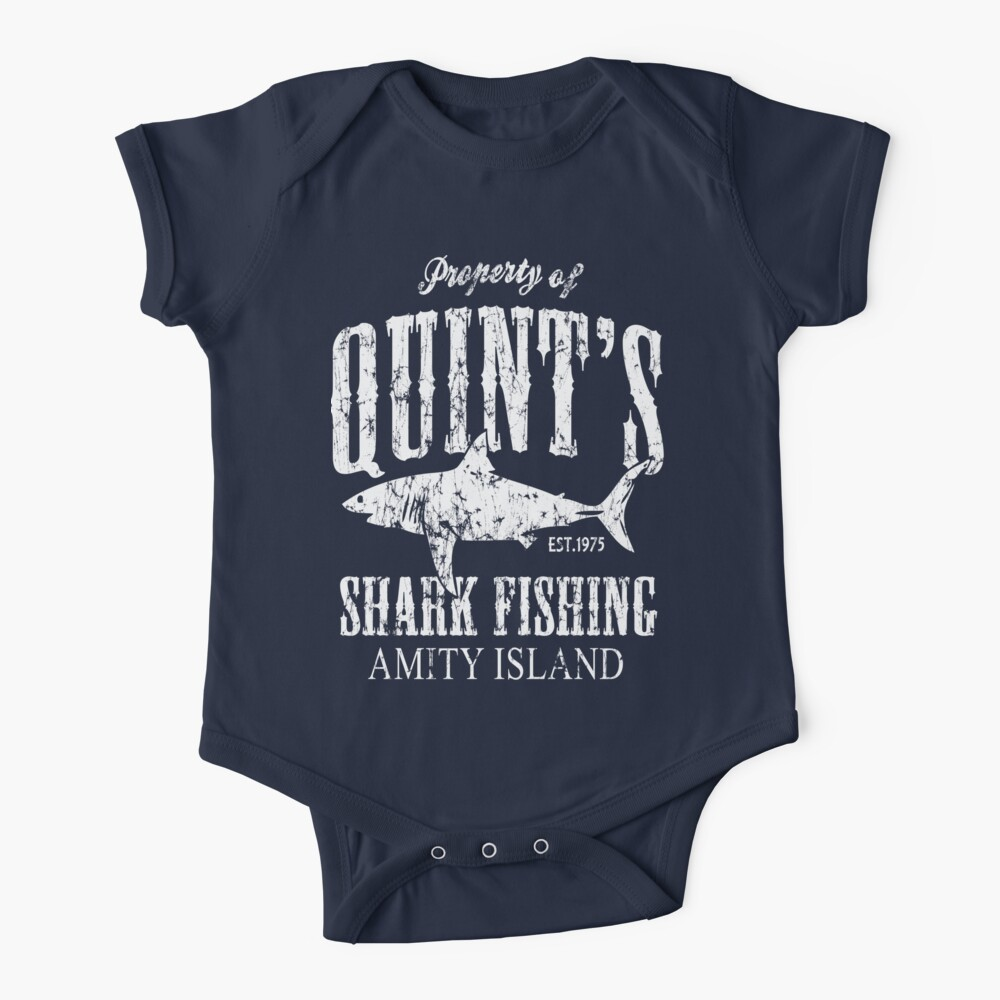 Quints Shark Fishing Amity Island Baby One-Piece