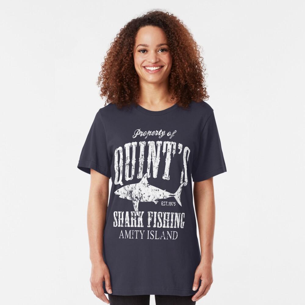 Quints Shark Angeln Amity Island Slim Fit T-Shirt