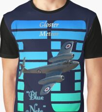 "Gloster Meteor F8 ""Blue Note"" T-shirt Design Graphic T-Shirt"
