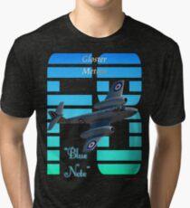 "Gloster Meteor F8 ""Blue Note"" T-shirt Design Tri-blend T-Shirt"
