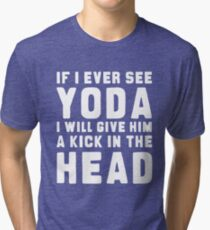 WTF IS YODA ??? Tri-blend T-Shirt