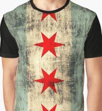 Vintage Grunge Chicago Flag Graphic T-Shirt