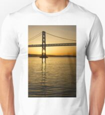 Framing the Sunrise at San Francisco's Bay Bridge in California T-Shirt