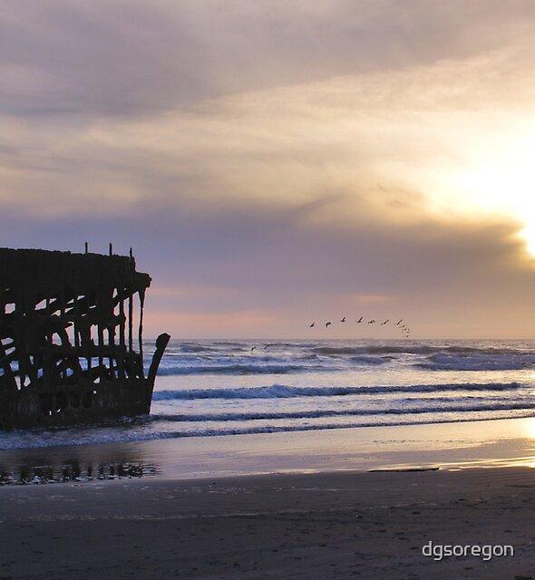 Sunset at Fort Stevens, Oregon by Donald Siebel