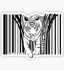 endangered TIGER BARCODE illustration Sticker