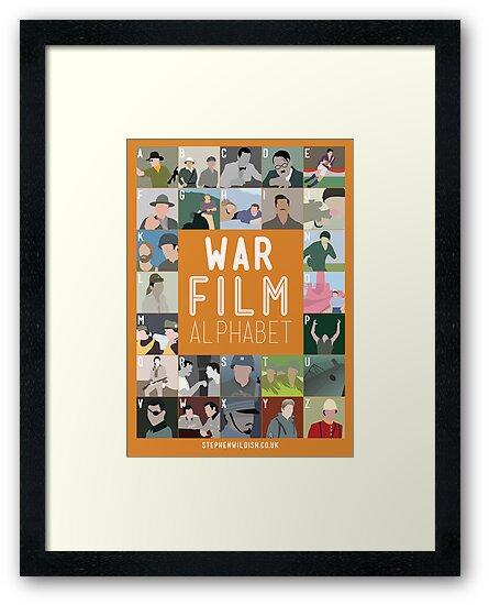 War Film Alphabet by Stephen Wildish