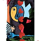 American Expressionism-8 of Hearts by Peter Simpson