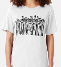 zebra barcode Slim Fit T-Shirt