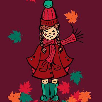 Autumnal Girl by HekimoArt