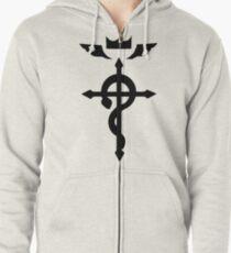 Edward Elric Symbol Zipped Hoodie