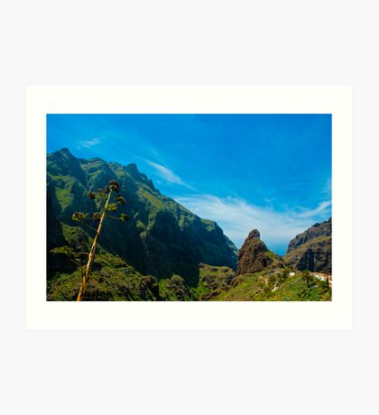 Masca - the most beautiful place on earth Art Print