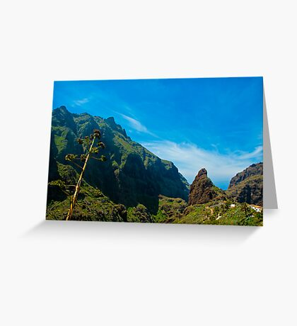 Masca - the most beautiful place on earth Greeting Card