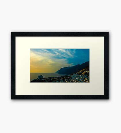Los Gigantes, Tenerife Framed Art Print