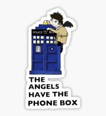 Castiel Has The Phone Box Sticker