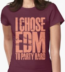 I Chose EDM To Party Hard (pastel red) T-Shirt