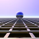 Sphere Over Grid III by Hugh Fathers