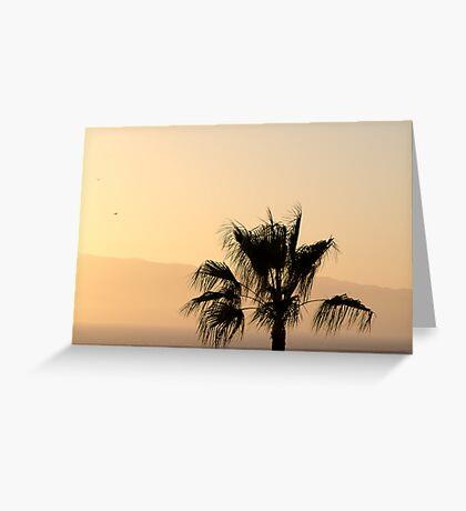 Sunset over La Gomera Greeting Card