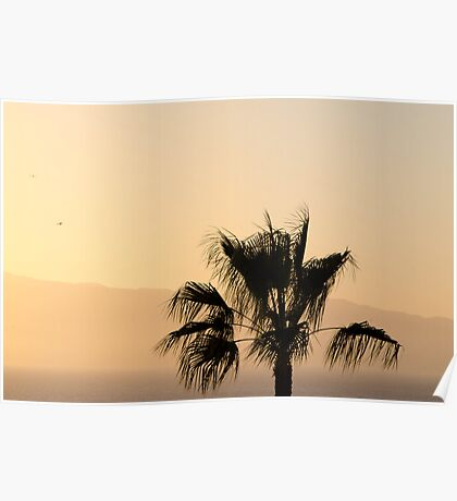 Sunset over La Gomera Poster