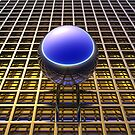 Sphere Over Grid V by Hugh Fathers