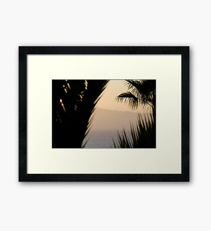 Abstract - Los Gigantes Framed Print