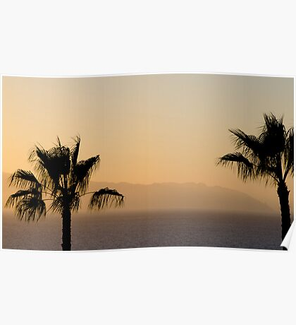 Sunset over Los Gigantes and Puerto Santiago Poster