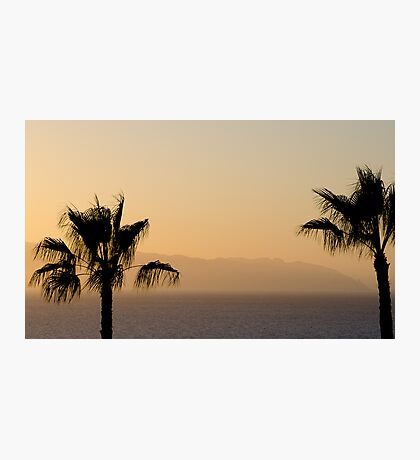 Sunset over Los Gigantes and Puerto Santiago Photographic Print