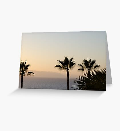 Sunset over Los Gigantes and Puerto Santiago Greeting Card