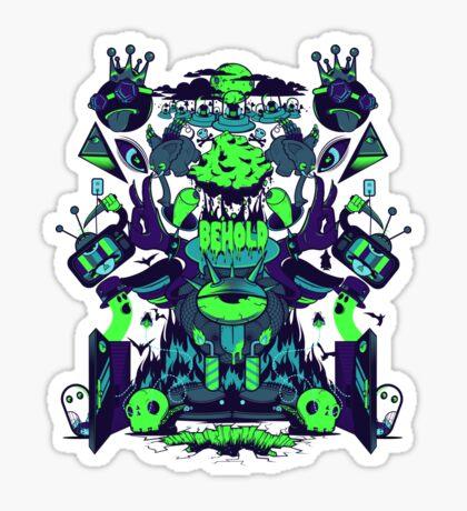 BEHOLD! Obsidian Sticker