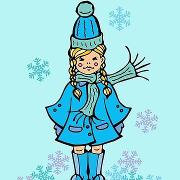 Snowflake Girl by HekimoArt