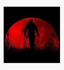 Red moon v2 Photographic Print