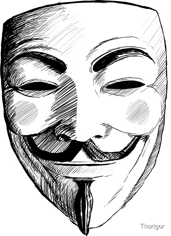 "V For Vendetta Mask Drawing ""V for Ven..."