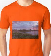 City landscape at sundown T-Shirt