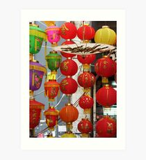 Chinese Lanterns, Ladies Market, Hong Kong Art Print