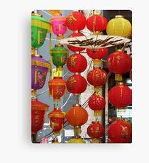 Chinese Lanterns, Ladies Market, Hong Kong Canvas Print